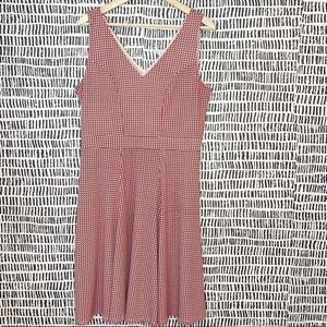 Ann Taylor red white and blue print a line dress